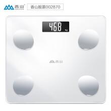 京东超市香山智能体脂秤 电子秤体重秤人体秤 家用高精准体脂称12项深度身体数据监测蓝牙APP控制 IF1120D云姿皓白