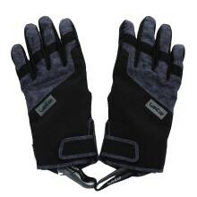 迪卡侬滑雪手套男冬保暖防水加绒加厚冬季防寒加棉手套女WEDZE3 黑色 XS