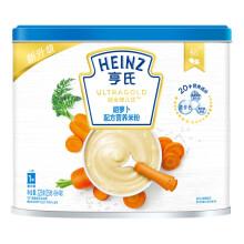 京东超市亨氏(Heinz)米粉 婴儿辅食 宝宝高铁米粉罐装 超金健儿优胡萝卜配方营养米粉225g(辅食添加初期-36个月适用)