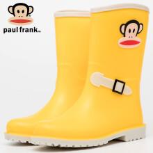 京东超市 大嘴猴PaulFrank雨鞋女时尚外出中筒胶鞋防水鞋成人雨靴套鞋 PF1003 绿色 38 1003黄色