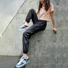 暴走的萝莉 束脚宽松运动长裤女跑步训练健身裤夏季薄款速干瑜伽裤 LLKK03506 黑色 M 97元