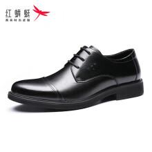 红蜻蜓 (RED DRAGONFLY) 舒适系带商务休闲男士皮鞋 WTA62851/52 黑色升级款 39