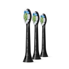 飞利浦(PHILIPS) 电动牙刷头 钻石亮白 3支装 黑色 HX6063/96(6063/35升级款) 适配HX9352/9372/6874
