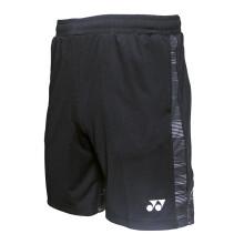 尤尼克斯YONEX羽毛球网球运动服yy舒适透气男短裤120029BCR-007黑色O/XL码