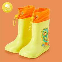 京东超市 柠檬宝宝 lemonkid 儿童雨鞋男女童防滑鞋小童宝宝防水雨靴卡通束口 LK2211010 雨天小黄鸭 200