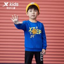 特步(XTEP)童装幼小童套头卫衣男女童卡通印花圆领运动上衣 679126209020 彩兰 100cm