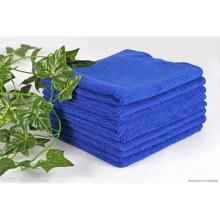 适用于手巾超纤维毛巾洗车打蜡洗车布快干不掉毛吸水吸油工业抹布 30*30蓝色