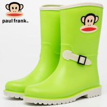 京东超市 大嘴猴PaulFrank雨鞋女时尚外出中筒胶鞋防水鞋成人雨靴套鞋 PF1003 粉色 38 1003绿色