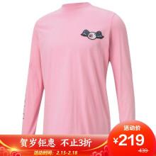 彪马 PUMA 黑标 男子 PUMA x VON DUTCH 运动 长袖T恤 598324 43 浅粉红 XS码