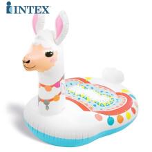 INTEX 充气床浮排游泳圈气垫浮排,海滩垫儿童成人充气坐骑水上充气玩具浮圈成人浮床水床 58763橙子浮排 羊驼坐骑