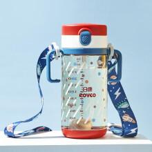 京东超市日康(rikang)儿童水杯 宝宝学饮杯儿童吸管杯 带重力球杯子(330ml)(绛红色)