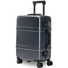 90分经典铝框旅行箱 坚固升级版登机箱 男女万向轮行李箱拉杆箱 商务休闲箱包 20英寸 钛金灰