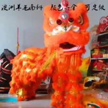 炫漾 舞龙舞狮道具整套双人成人学生舞狮羊毛狮子头醒狮儿童佛山羊毛狮 橙黄佛装狮