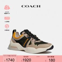 COACH/蔻驰2020新款经典潮流CITYSOLE跑鞋 黑色/黄色 42.5  男款