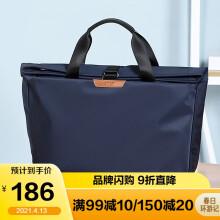 高尔夫GOLF商务公文包男士休闲大容量手提包可装14英寸笔记本电脑包时尚多功能单肩斜挎包6J679424J深蓝