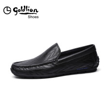金利来(goldlion)男鞋都市时尚耐磨皮鞋轻质商务休闲鞋51101042901A-黑色-39码