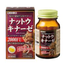 orihiro欧力喜乐纳豆激酶脑梗纳豆菌改善三高正品 日本直邮 一瓶装