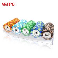 望京扑克WangjingPoker黏土筹码套装德州扑克卡片麻将筹码代金币麻将馆棋牌积分币