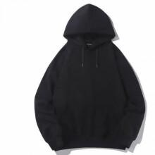 聪蝶2021年秋季新款时尚连帽卫衣女 黑加绒款 S