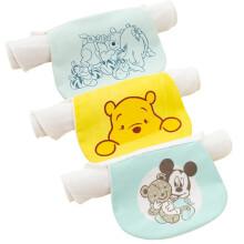 京东超市 迪士尼(Disney)母婴 宝宝吸汗巾 婴儿汗巾男女儿童垫背巾幼儿园隔汗巾三条装维尼24*32cm(2-4岁)YDFDZG-L