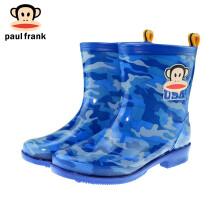京东超市 大嘴猴PaulFrank雨鞋男女大童学生迷彩时尚外出防水短筒雨靴套鞋 PF1010 棕色迷彩 36 1010蓝色迷彩