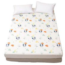 迪士尼(Disney)母婴 婴儿隔尿床单 防水可洗透气隔尿垫超大号儿童防漏保护床垫米妮云朵150*200cmYDU-135-11 床笠米奇云朵120*200cm