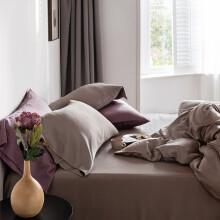 时光居品(turqua)套件 天丝凉感四件套夏季莱赛尔纤维60支纯色冰丝被套床单 烟驼1.5米床/被套200*230cm