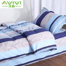 京东超市艾薇 全棉三件套简约纯棉斜纹床上用品单人学生宿舍被套床单枕套 米罗 0.9/1.2米床通用