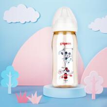 京东超市贝亲(Pigeon) 奶瓶 PPSU奶瓶 新生儿 宽口径 迪士尼 disney 240ml(米奇米妮约会) AA164 自然实感L码奶嘴