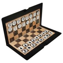 先行者 磁性国际象棋 折叠超薄皮夹式迷你旅游型迷你型超薄中国象棋 超薄迷你国际象棋B-401