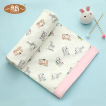 京东超市 良良(liangliang)婴儿隔尿垫可洗宝宝防水麻棉床垫小汽车标准加大蓝色81*60cm 粉嘟嘟