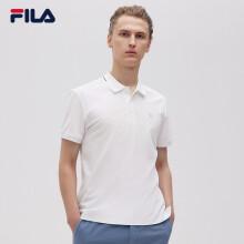 FILA斐乐短袖POLO衫WHITE LINE男装2021年夏季新款休闲针织短袖衫上衣 标准白-WT 170/92A/M