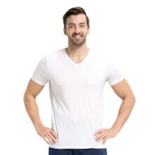 京东超市小护士 男士短袖背心 男士T恤打底衫背心V领打弹力经典百搭底衫SSD1503 儒雅白 XL(175/105)