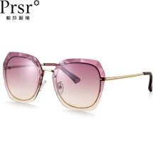 帕莎(Prsr)新款太阳镜女士时尚圆脸墨镜男复古原宿风大框韩版眼镜 PS2011-K01紫茶