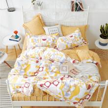 维科家纺全棉印花套件家纺床上用品四件套 嘉年华