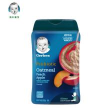 京东国际嘉宝Gerber  婴儿米粉 蜜桃苹果谷物米粉 二段(6个月以上) 227g/罐  美国原装进口