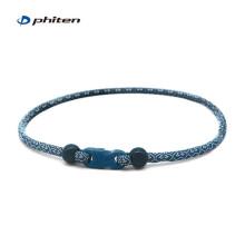 法藤官方日本原装和风项环限定款X50项环水溶钛颈圈时尚男女户外运动颈椎项圈45cm 蓝色 45