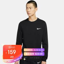 耐克NIKE 男子 长袖  TEE LS SWOOSH 套头衫 DA0336-010黑色XL码