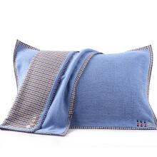 艾薇 枕巾家纺 纯棉加大加厚情侣枕巾 枕头巾 一对装 悠闲时光 52*75cm