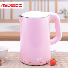 京东超市爱仕达(ASD)电水壶 1.5升大容积 304不锈钢电热水壶 双层防烫烧水壶 AW-S15G801(粉色)
