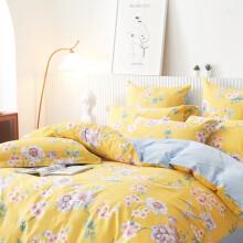 Dohia 多喜爱 床品套件 全棉印花简约风 条纹四件套 梦苒花溪