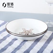 京东超市佳佰 陶瓷餐具 碗碟餐具套装碟子套装 海洋世界8英寸和韵饭盘2件套