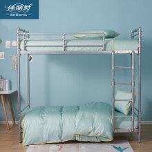 佳丽斯床单三件套夏季60支长绒棉0.9m床被套纯棉学生宿舍床上用品 雅菲-绿 宿舍三件套(枕套+床单+被套)
