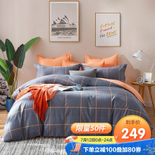 京东超市 博洋家纺(BEYOND)床上用品 全棉磨毛四件套秋冬加厚保暖床单被套双人纯棉套件 洛斯 180cm