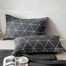 南极人 Nanjiren 枕套家纺 全棉枕套 纯棉斜纹枕头套枕芯套 慕尚 一对装