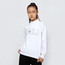 京东超市匡威(CONVERSE)童装儿童套头卫衣秋季女童休闲上衣外套A403-001纯白色160(L)