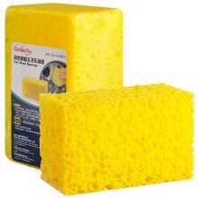 卡饰社(CarSetCity)大号高质洗车海绵 洗车工具 汽车用品 2个装 黄色