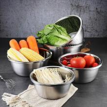 美厨(maxcook)304不锈钢盆调料盆 加厚味斗 洗菜盆沙拉盆和面腌肉盆 可用电磁炉 32cm(MCWA673)