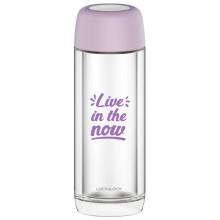 乐扣乐扣LOCK&LOCK玻璃杯双层耐热玻璃水杯男女茶杯便携学生杯子LLG628PUP紫色300ml