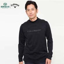 callaway卡拉威高尔夫新款男士简约休闲运动长袖衬衫golf男装 0233504-010黑色 M
